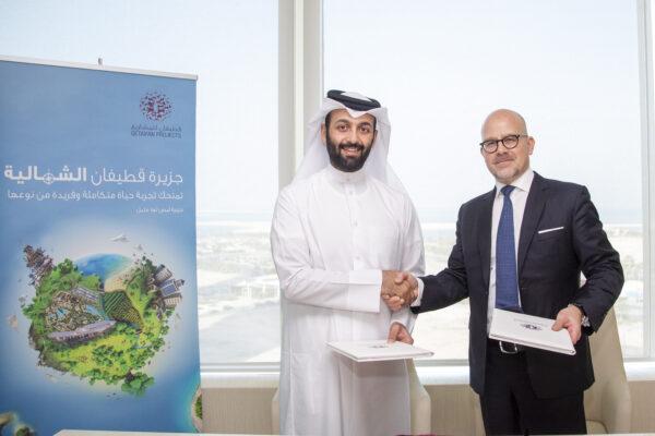 Mikael Hedberg and H.E Shaikh Nasser Bin Abdulrahman Althani