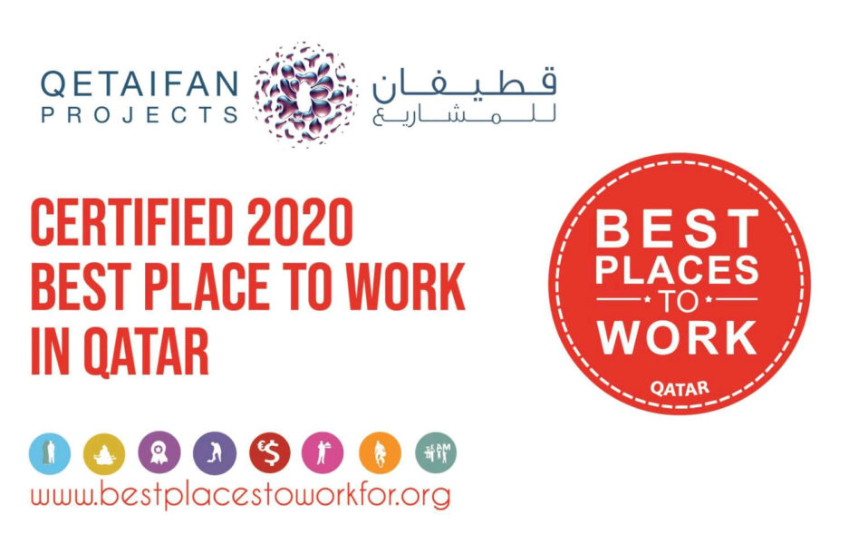 Qetaifan Projects certified as Best Place to Work in Qatar - 2020