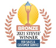 2021 STEVIE WINNER - FOR SALES & CUSTOMER SERVICE