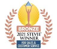 2021 STEVIE WINNER - FOR SALES & CUSTOMER SERVICE